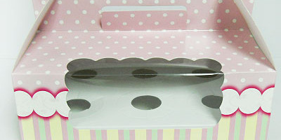 CUP CAKE BOX SWEET PINK 6′S