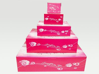 PINK CAKE BOX (SQUARE)
