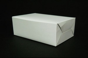 WHITE CAKE BOX (RECTANGULAR)
