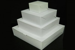 WHITE CAKE BOX (SQUARE)